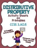 Distributive Property of Multiplication Printables:  CCSS 3.OA.5