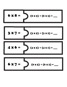 Distributive Property of Multiplication Puzzle