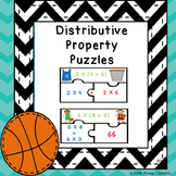 3rd Grade Distributive Property of Multiplication Game Math Center Puzzle 3.OA.5