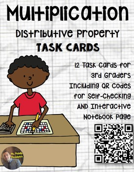 Distributive Property of Multiplication Task Card Word Problems: QR Code