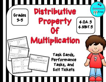 Distributive Property of Multiplication Task Cards