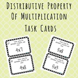Distributive Property of Multiplication Task Cards