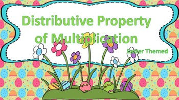 Distributive Property of Multiplication Task Cards {Easter Themed}