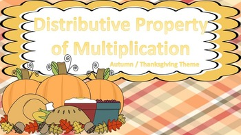 Distributive Property of Multiplication Task Cards {Fall /