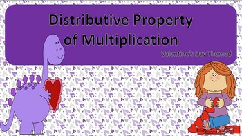 Distributive Property of Multiplication Task Cards {Valentine's Day Themed}