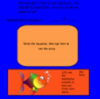 Distributive Property of Multiplication-Word Problems-Smartboard Activity
