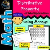 Distributive Property of Multiplication using with Arrays- HW and Quiz included!
