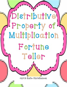 Distributive Property of Multiplication without Variables Fortune Teller