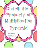 Distributive Property of Multiplication without Variables Pyramid