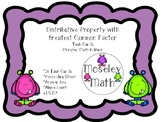 Distributive Property w/GCF 6.NS.B.4 Task Cards w/Recordin