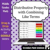 Distributive Property with Combining Like Terms Digital Dr