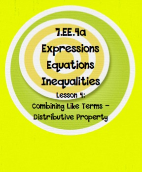 Distributive Property with Combining Like Terms Lesson 4