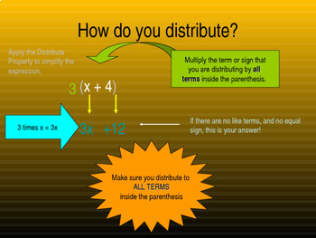 Distributive Property with Combining Like Terms to Simplify Expressions
