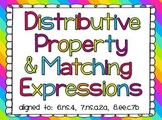 Distributive Property with  Equivalent Expressions and Area Models