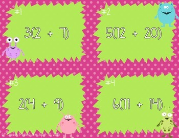 Distributive Property with Expressions - Monster Edition! CCSS 6.NS.4 Aligned**