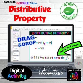 Distributive Property with Interactive Fun GOOGLE Slides