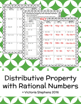 Distributive Property with Rational Numbers