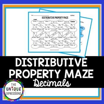 Distributive Property with Rational Numbers Maze (Decimals)