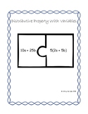 Distributive Property with Variables: Matching Center