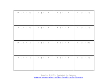 Distributive Property Bridge Puzzle