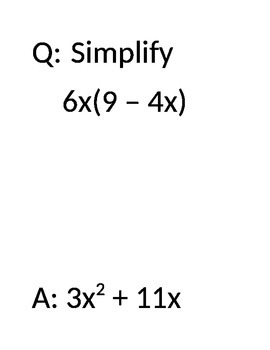 Distributive and Commutative Property Practice