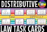 Distributive law task cards