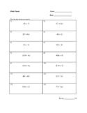 Distributive property - Practice problem (basic)