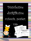 "Distributive property ""distRIButive"" cutout, poster, and rap"