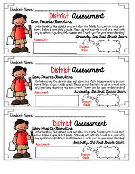 EDITABLE District Assessment Parent Letters