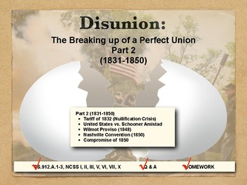 DISUNION - Causes of the Civil War, Part 2