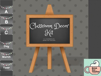 Ditsy Banner Classroom Decor Label Kit