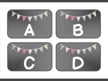 Ditsy Banner Classroom Decor Label Kit