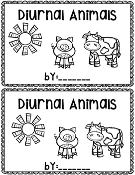 Diurnal Animals~ emergent reader
