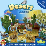 Diurnal / Nocturnal Animal Craft   Diorama Desert Habitat