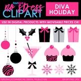 Diva Holiday Christmas Clip Art (Digital Use Ok!)