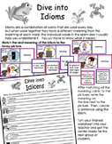 Literacy Center - Dive Into Idioms
