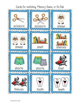 Irregular Plural Nouns Games