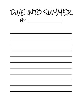 Dive Into Summer!