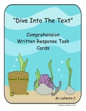 Dive Into The Text (Comprehension Task Cards)