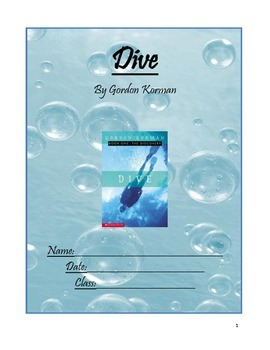 Dive by Gordon Korman Reading Comprehension Packet