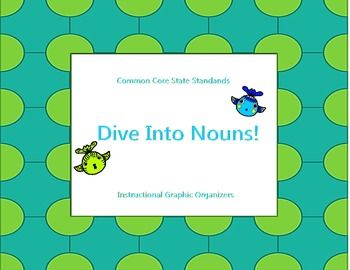 Dive into Nouns: Common Core Instructional Graphic Organizers for Nouns