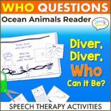 Summer Speech Therapy Ocean Theme Reader and Ocean Animals Activities