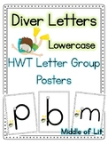 Diver Letter Posters - Handwriting Without Tears Style