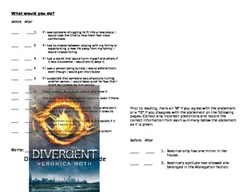 Divergent Anticipation Guide