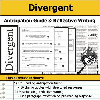 Divergent - Anticipation Guide & Reflection