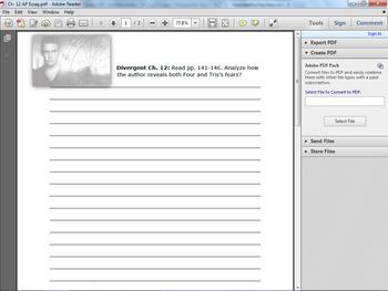 Divergent Ch. 12 AP Essay