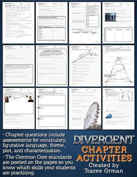 Divergent Chapter Questions, Vocabulary, Intro EDITABLE