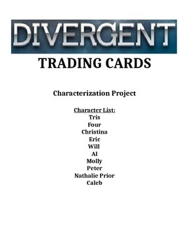 Divergent Characer Trading Cards