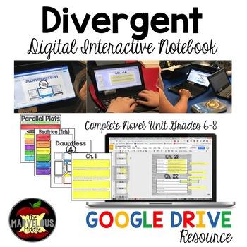 Divergent Digital Interactive Notebook for Google Drive