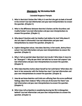 Divergent Extended Response Prompts